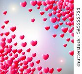 valentines day background with... | Shutterstock . vector #565232731