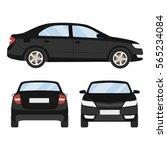 car vector template on white... | Shutterstock .eps vector #565234084