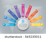 many different ways colored... | Shutterstock .eps vector #565235011