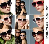 Collage Of Fashion Model...