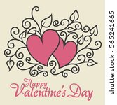 happy valentine day doodle | Shutterstock .eps vector #565241665