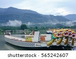 dragon boat on the water. | Shutterstock . vector #565242607