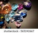 jewel or gems on black shine... | Shutterstock . vector #565242667