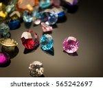 jewel or gems on black shine... | Shutterstock . vector #565242697