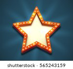 beautiful star shaped retro... | Shutterstock .eps vector #565243159