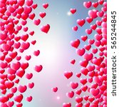 valentines day background with... | Shutterstock . vector #565244845