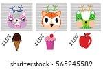 cute animals | Shutterstock .eps vector #565245589