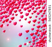 valentines day background with... | Shutterstock . vector #565247851