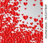 valentines day card with... | Shutterstock . vector #565247869