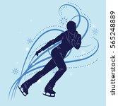 silhouette of the figure skater ... | Shutterstock .eps vector #565248889