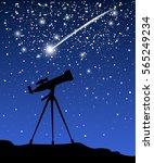 telescope for astronomy...   Shutterstock .eps vector #565249234