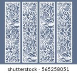 die and laser cut ornamental... | Shutterstock .eps vector #565258051