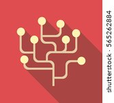 infographics structure icon.... | Shutterstock .eps vector #565262884