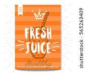 healthy fresh juice glass ... | Shutterstock .eps vector #565263409