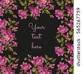 embroidery frame for text with...   Shutterstock .eps vector #565267759