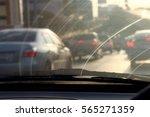 dirty windshield  pollution...   Shutterstock . vector #565271359