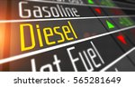 prices for diesel and various... | Shutterstock . vector #565281649