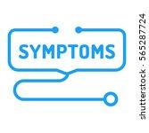symptoms. stethoscope icon.... | Shutterstock .eps vector #565287724