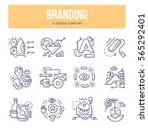 doodle vector line icons of... | Shutterstock .eps vector #565292401