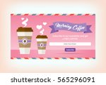 win free take away coffee to go ... | Shutterstock .eps vector #565296091