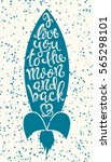 poster with with hand drawn... | Shutterstock .eps vector #565298101