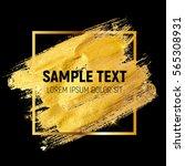 gold paint glittering textured...   Shutterstock .eps vector #565308931