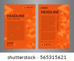 business brochure flyer design... | Shutterstock .eps vector #565315621