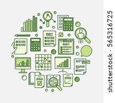 financial audit circular...   Shutterstock .eps vector #565316725