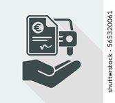 car billing document   euro | Shutterstock .eps vector #565320061