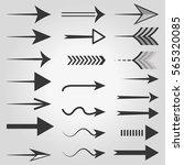 vector arrow icons. vector ... | Shutterstock .eps vector #565320085
