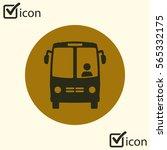 bus icon. schoolbus symbol.... | Shutterstock .eps vector #565332175