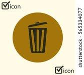trash can icon. delete  move to ...