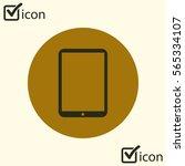 modern digital tablet pc icon....
