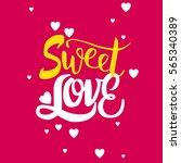 sweet love background.romantic...   Shutterstock .eps vector #565340389
