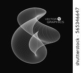 3d vector abstract organic form ... | Shutterstock .eps vector #565346647