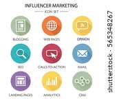 Influencer Marketing Icon Set...