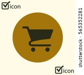 flat icon of shopping chart....