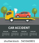 car accident concept... | Shutterstock . vector #565360801