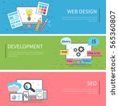 line banners set. infographic... | Shutterstock . vector #565360807