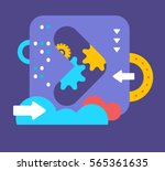 vector illustration of bright... | Shutterstock .eps vector #565361635