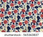 the beautiful of art fabric... | Shutterstock . vector #565363837