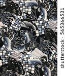 the beautiful of art fabric... | Shutterstock . vector #565366531