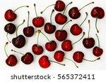 cherry. a lot of cherries... | Shutterstock . vector #565372411