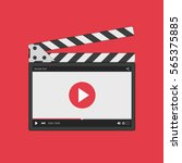 movie clapper board with video... | Shutterstock .eps vector #565375885