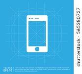mobile phone icon   Shutterstock .eps vector #565380727