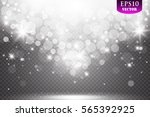 vector falling snow effect... | Shutterstock .eps vector #565392925