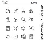 science icon set. collection of ... | Shutterstock .eps vector #565401505