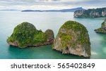 aerial view of ao nang coastine ... | Shutterstock . vector #565402849