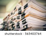 Stack Of Paper Files