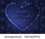 love. valentine's day. color... | Shutterstock .eps vector #565405951